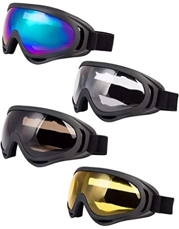 9894ea191a LJDJ Ski Goggles, Pack of 4 - Snowboard Adjustable UV 400 Protective  Motorcycle Goggles Outdoor