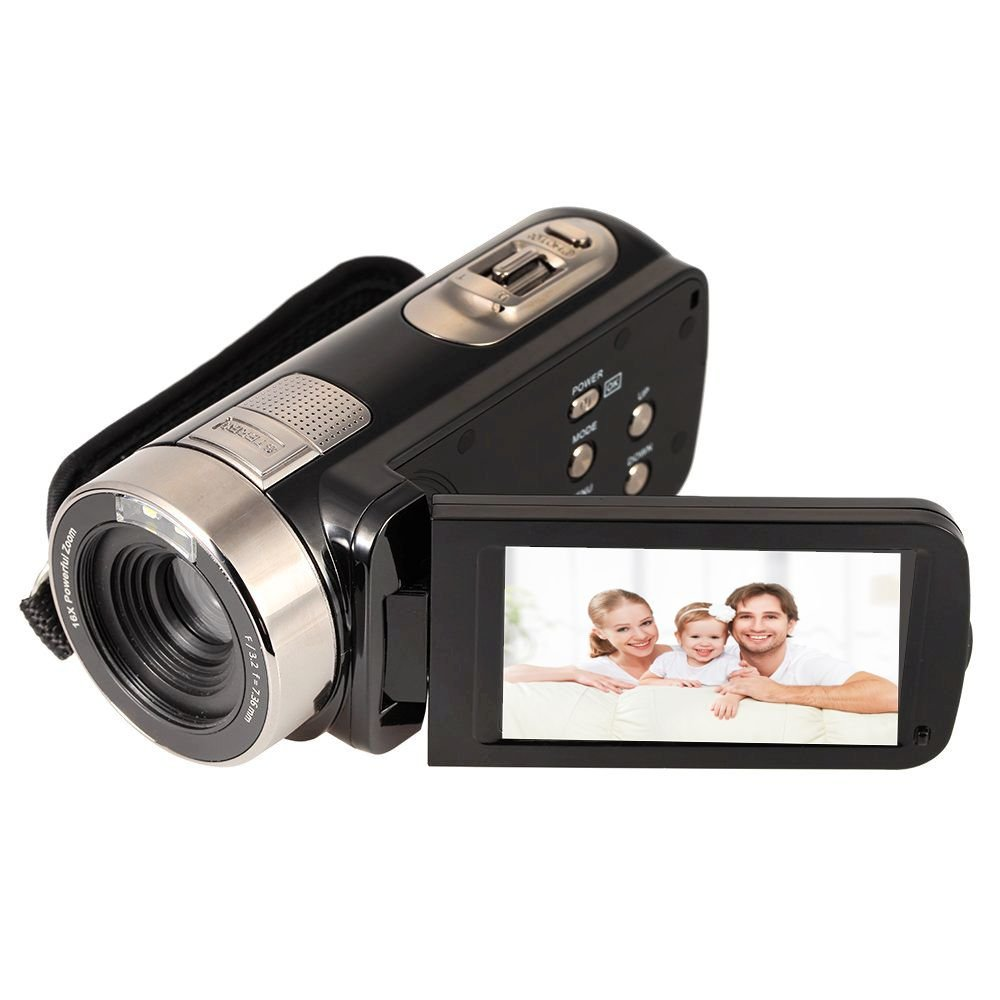 Digital Video Camcorder,24 MP 1080P HD Camera DV 2.7'' LCD Screen Portable Night Vision Camera