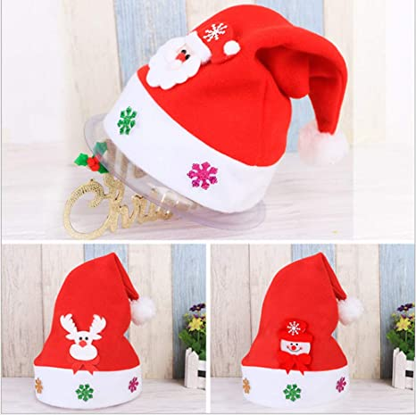 Minleer Cappelli di Babbo Natale (3 Pack) 113e187f705b