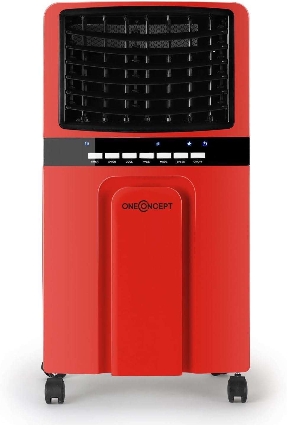 Programmable avec Mode Nuit /Électronique Ventilateur et Humidificateur Rafra/îchisseur d/'air mobile CLIMACOOL8 Sur Roulettes Fonctionne Sans tuyau d/évacuation Climadiff