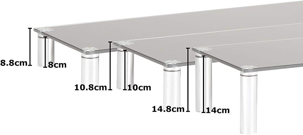 Hartleys - Soporte elevador de monitor, de cristal con patas ...