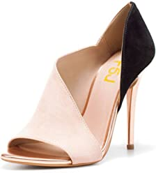03b23c38fc9e3 FSJ Women Sexy Peep Toe Cutout Pumps Sandals D Orsay Stiletto Heels Party  Evening Shoes