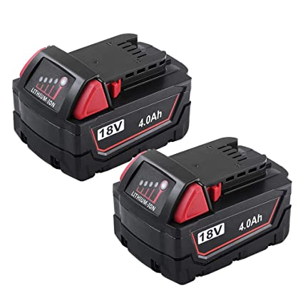 vanon 4 0ah 18v li ion rechargeable replacement battery forvanon 4 0ah 18v li ion rechargeable replacement battery for milwaukee 48 11 1820 48 11 1850 48 11 1828 48 11 10 cordless power tools (2 pack) amazon com