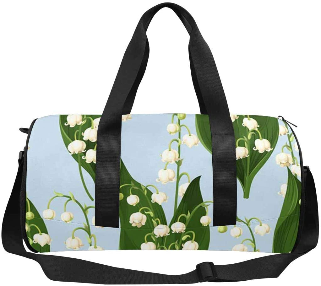 INTERESTPRINT Lily of the Valley Travel Bag Water-Resistant Duffle Bag