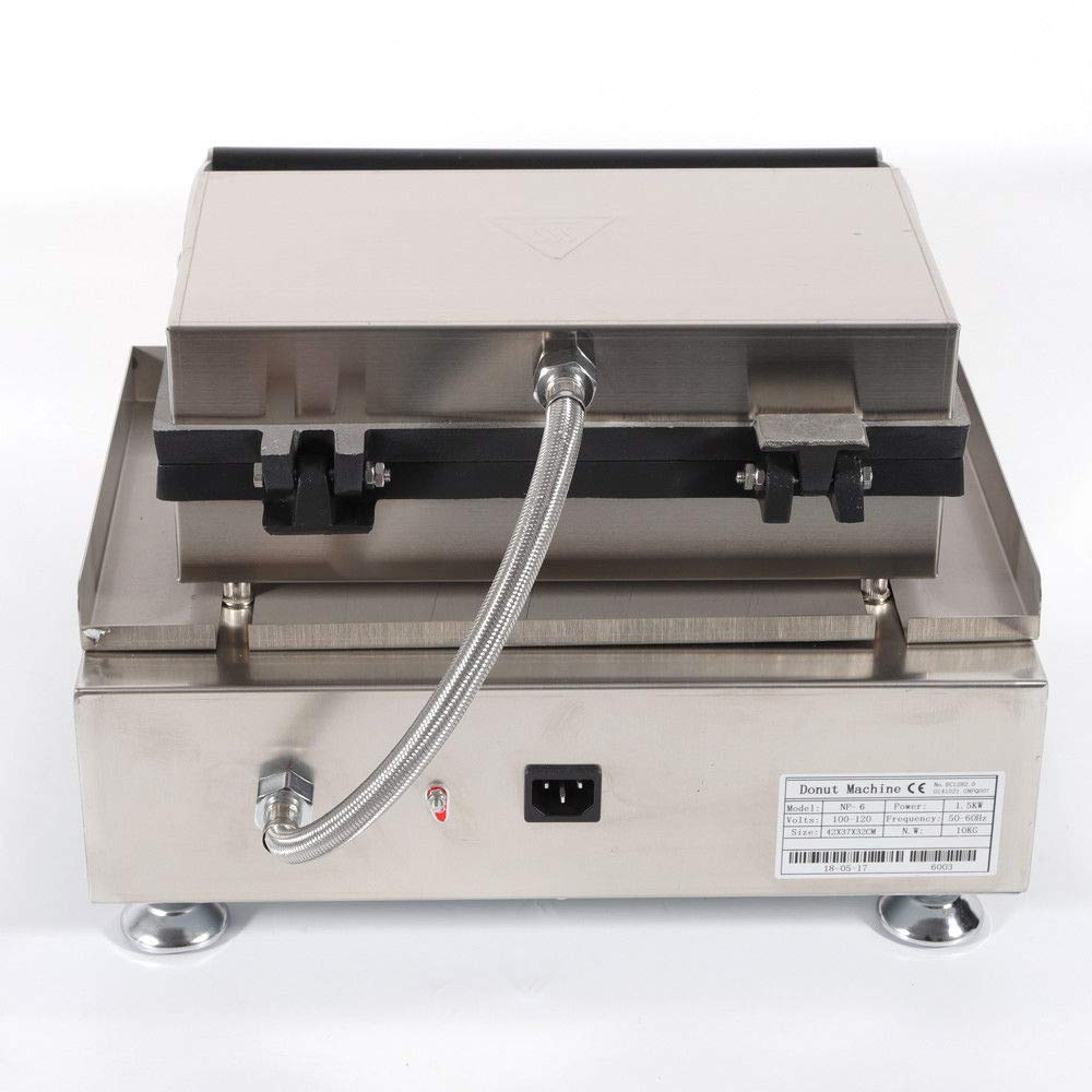 USA STOCK Donut Machine 110V Commercial Donut Machine 15 Pieces Electric NonStick Donut Maker Plate 5KW Kitchen Tool Mini Donut Machine