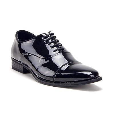 9cb93989d64 Men s Patent Leather Formal Wear Oxfords Lace-Up Dress Shoes