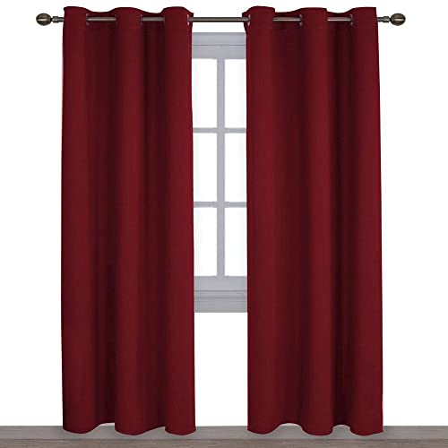 living room drapes and curtains elegant nicetown home decorations thermal insulated solid grommet top blackout living room curtainsdrapes for christmas window curtains room amazoncom