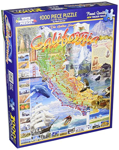 White Mountain Puzzles California - 1000 Piece Jigsaw Puzzle