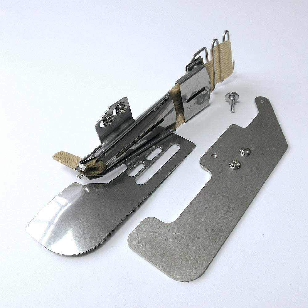 Clear View Cover Stitch Foot +Type B Binder -7//16 11.1mm Tape-Finish Size:1-1//2 Mounting Plate for Janome Coverpro 38.1mm