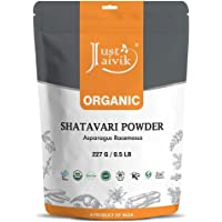 Just Jaivik 100% Organic Shatavari Powder, Usda Organic, 1/2 Pound / 227G, Asparagus Racemosus, Rejuvenative For Vata…