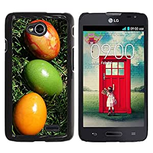 Be Good Phone Accessory // Dura Cáscara cubierta Protectora Caso Carcasa Funda de Protección para LG Optimus L70 / LS620 / D325 / MS323 // Easter Eggs Colorful Art Green Yellow Red