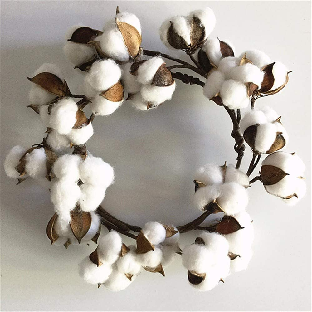 wangjian& Guirnalda de algodón de simulación de Flores secas de ...
