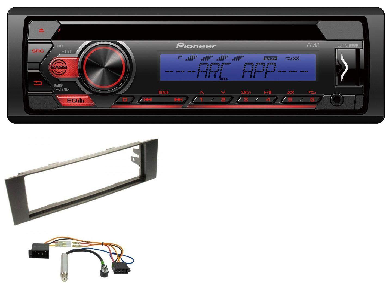 Pioneer DEH-S110UBB 1DIN AUX MP3 CD USB Autoradio fü r Audi A3 (8P, 03-06) - ISO caraudio24