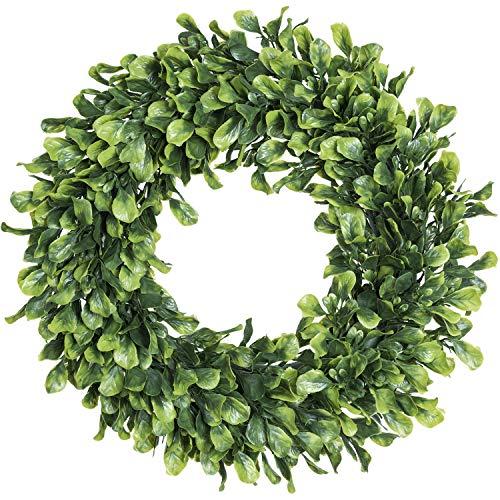 (Lvydec Artificial Green Leaves Wreath - 15
