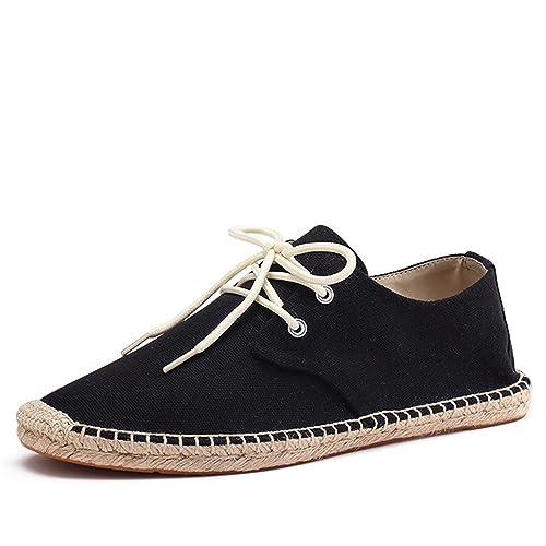 minorista online 92a8c 30904 Zapatos para Hombre Verano con Cordones Sólidos Alpargatas ...