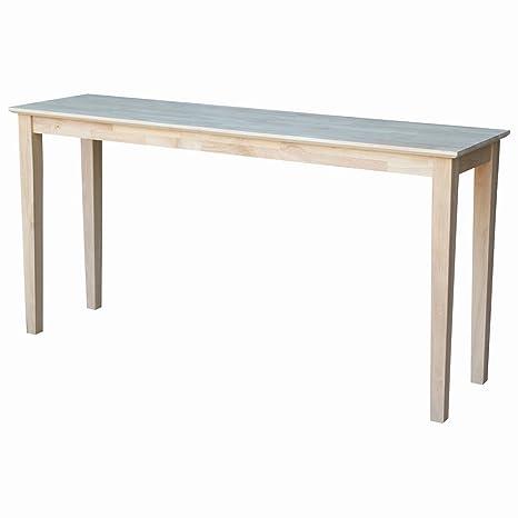 Amazon.com: Mesa para consola de madera sólida, sin ...