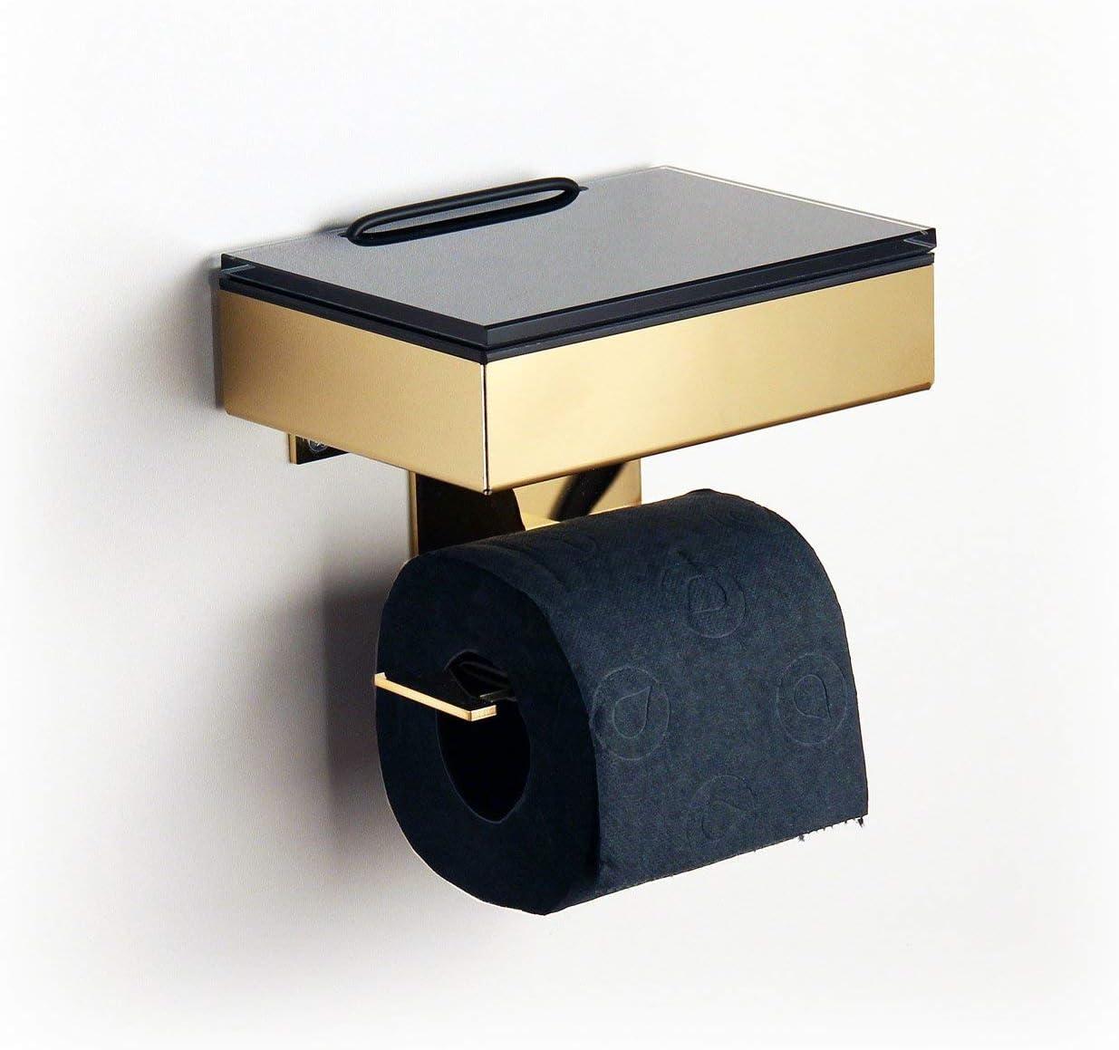 Caja para toallitas húmedas/rollo soporte acero inoxidable dorado – Fabricado en Alemania.: Amazon.es: Bricolaje y herramientas