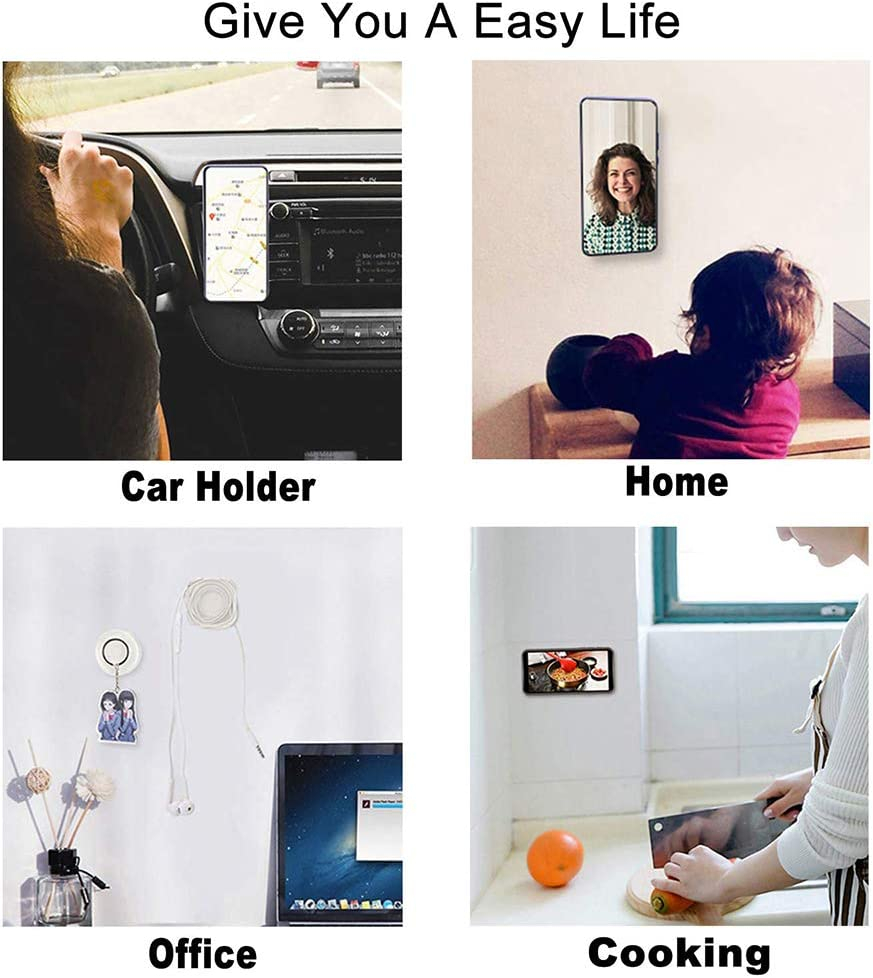 Coltum nano paste phone holder,nano casual paste magic phone holder,Reusable Non-Slip phone holder for Car,Home,Office Storage of Various Small Device and Items Transparent