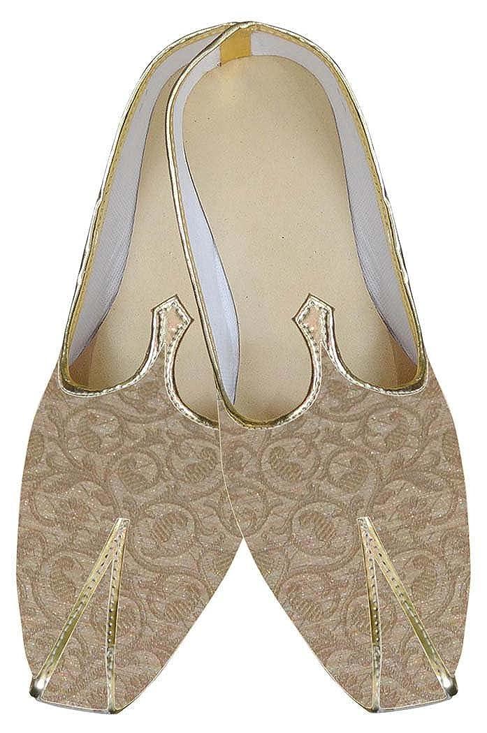 INMONARCH Hombres Dorado Último Buscar Zapatos de Boda India MJ0157 37 EU