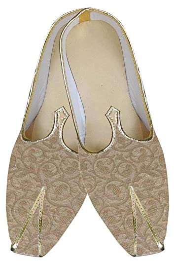 Mens Golden Indian Wedding Shoes Partywear MJ0157