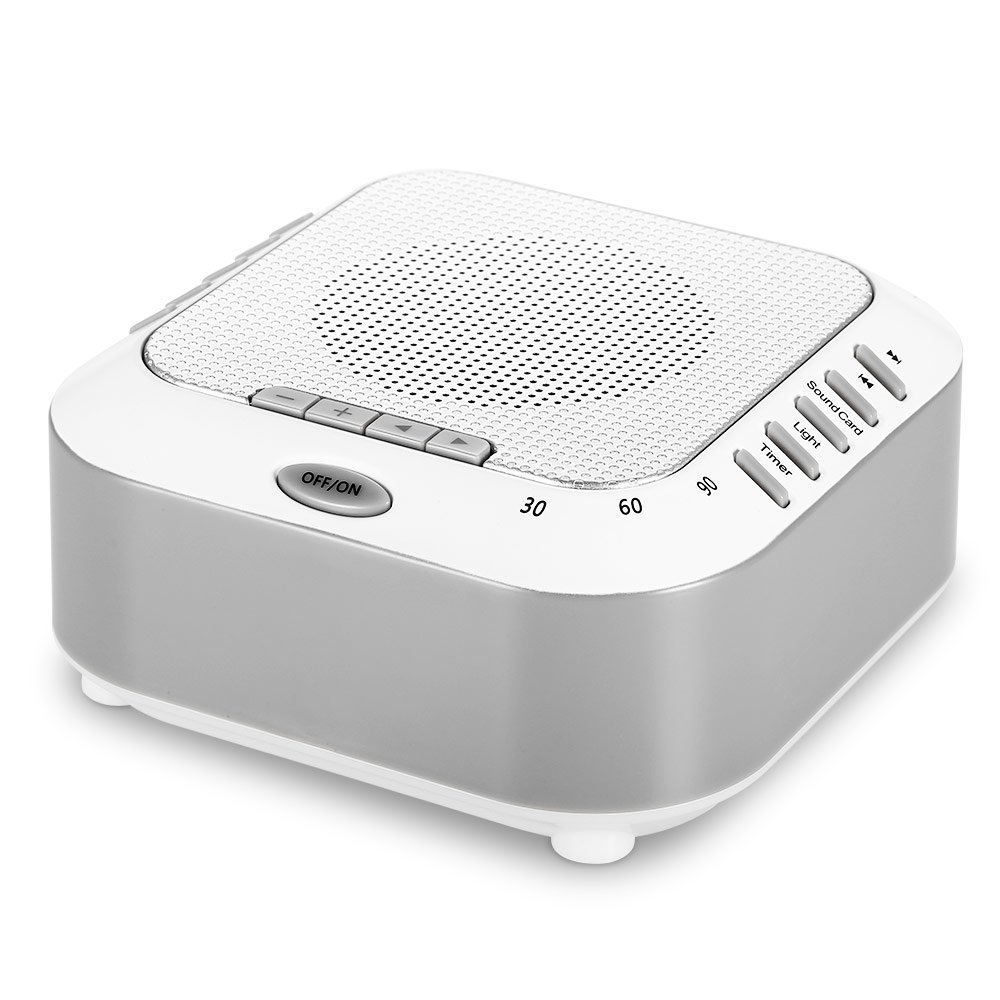 White Noise Machine for Sleeping, Famirosa Sleep Sound Machines for Baby Kids Adults Office Privacy With Night Light, Rechargeable Sleep Machines With Natural Wind, Ocean Sound Effects