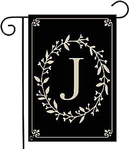 "Briarwood Lane Classic Monogram Letter J Garden Flag Everyday 12.5"" x 18"""