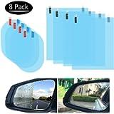 Tdauke 8 Pcs Car Rearview Mirror Film, Side Mirror Window Protector Film, Anti Fog Anti Glare Anti Scratch Rearview…