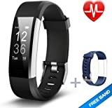 Lintelek Fitness Tracker, Large OLED Touch Screen Activity Tracker