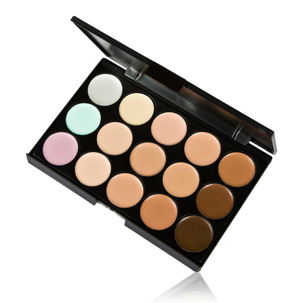 Anself 15 Color Cream Camouflage Concealers Palette Eye Face Cosmetic Makeup Earth Tone docooler