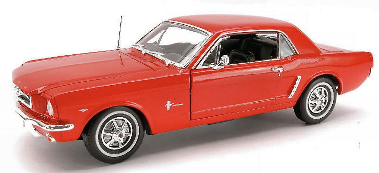 WELLY WE0902 FORD MUSTANG COUPE' 1964 RED 1:18 MODELLINO DIE CAST MODEL