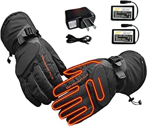 Heated Gloves for Men Women RechargeableBattery Powered Heated Gloves for Motorcycle Outdoor Sports, Winter Waterproof Electric Heated Gloves with Touchscreen
