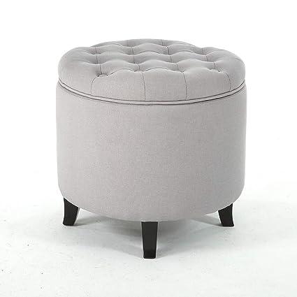 Peachy Amazon Com Elegant Convenient Storage Ottoman Round Tufted Ibusinesslaw Wood Chair Design Ideas Ibusinesslaworg