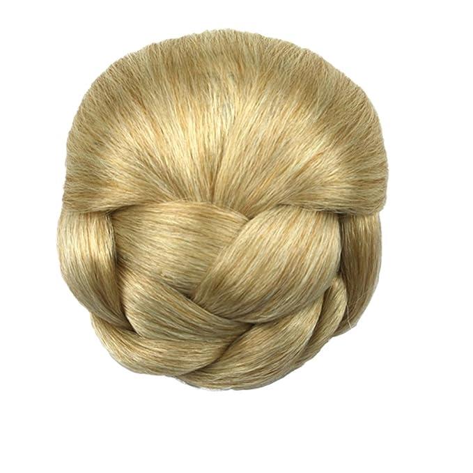 Feicuan Hairpiece Synthetic Hair Bun Braided Clip In Buns Chignon