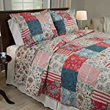 (US) Bedford Home 3 Piece Mallory Quilt Set, Full/Queen