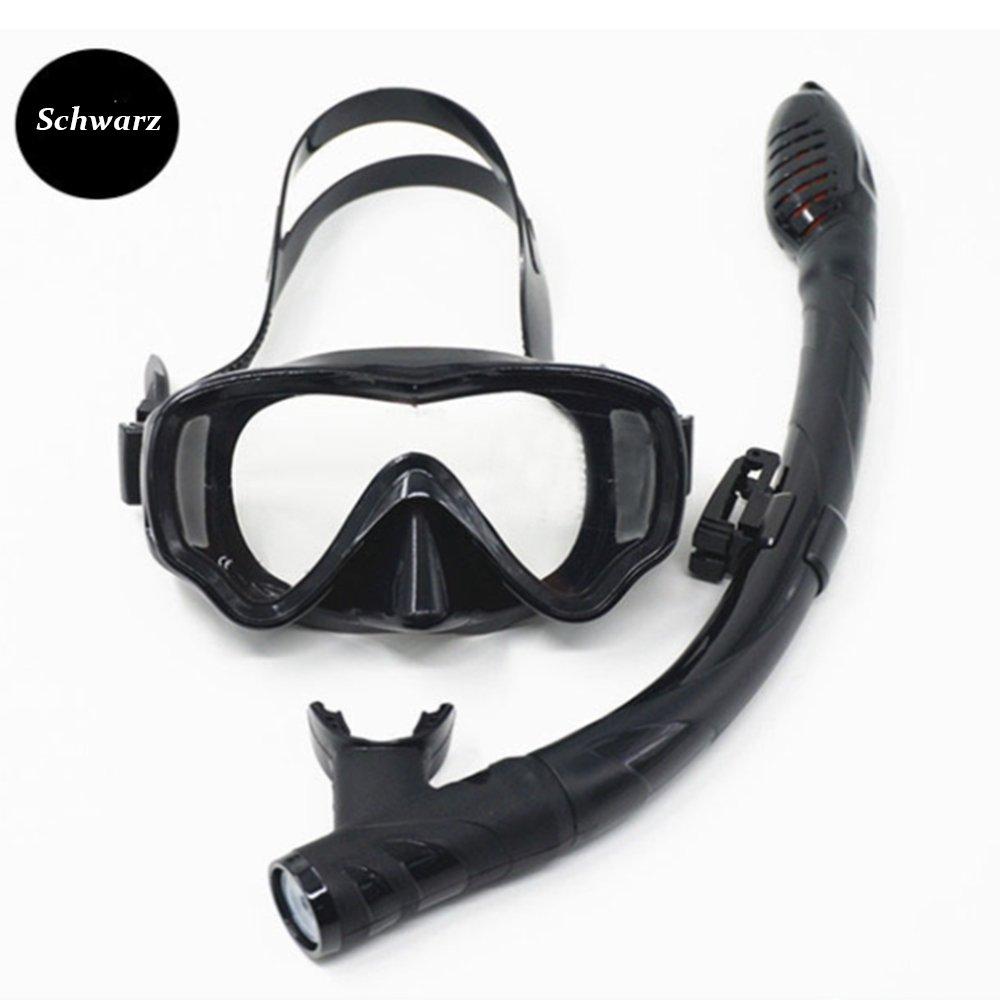 Occhiali Da Nuoto Anti-Appannamento Anti-Nebbia Per La Protezione Degli Occhialini Da Nuoto Adulti Comodi Vista Chiaramente Con Tubo Flessibile Da Snorkel Più Lungo,black