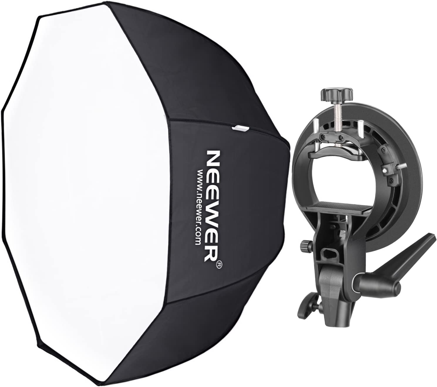Portrait and Product Photography with Bowens Mount S-Type Bracket Holder Neewer 48 inches//120 centimeters Octagonal Softbox with Red Edges and Carrying Bag for Speedlite Studio Flash Monolight
