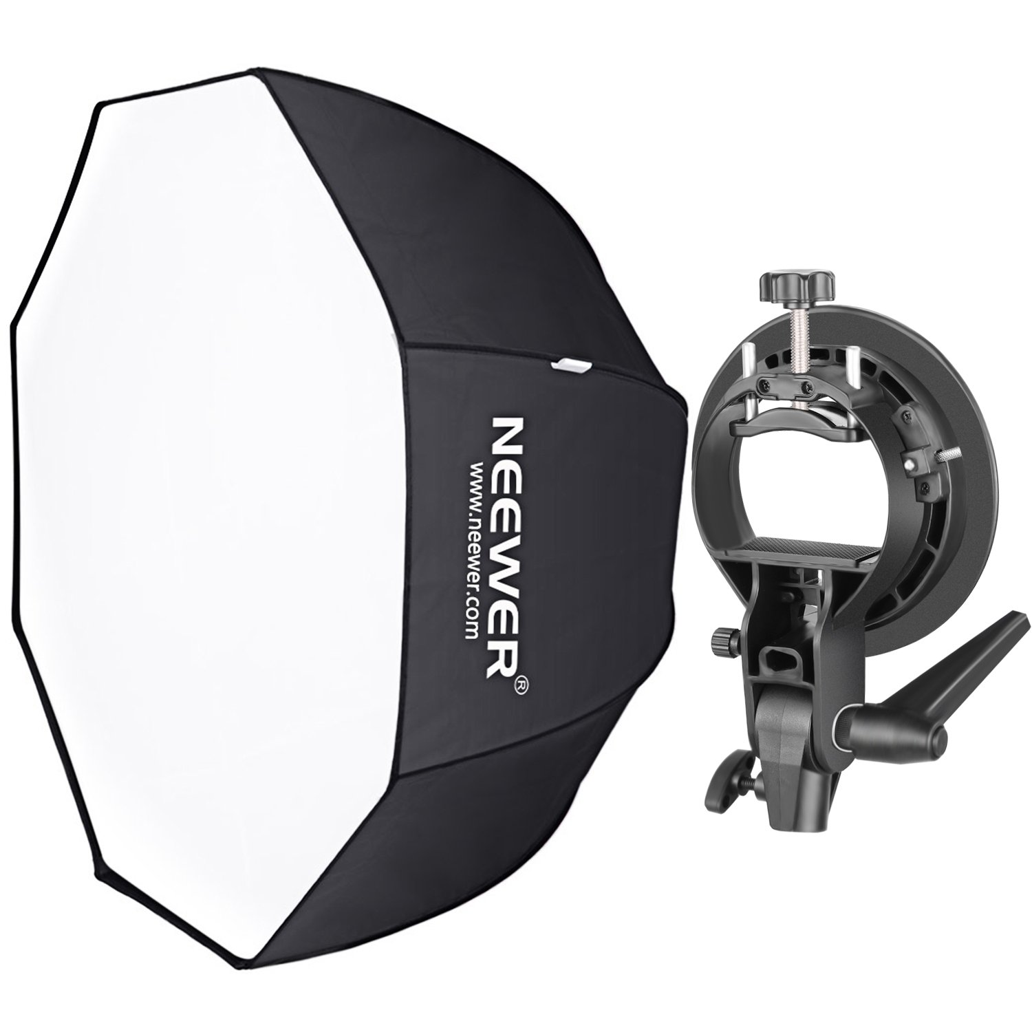 Neewer 32 inches/80 centimeters Octagonal Softbox with S-Type Bracket Holder (with Bowens Mount) and Carrying Bag for Speedlite Studio Flash Monolight, Portrait and Product Photography by Neewer