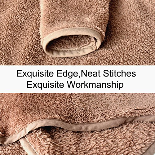 Clearance Sale Lapel Fuzzy Sweater for Women Warm Fluffy Fleece Cardigan Loose Open Front Coat Long Sleeve Outwear (Coffee, M) by TOOTO (Image #3)
