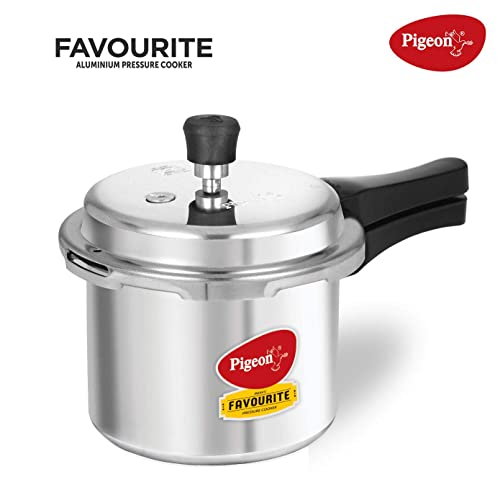 1. Pigeon By Stovekraft Favourite Induction Base Aluminium Pressure Cooker with Outer Lid, 3 Litres (Silver)