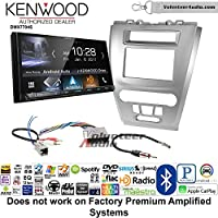 Volunteer Audio Kenwood DMX7704S Double Din Radio Install Kit with Apple CarPlay Android Auto Bluetooth Fits 2010-2012 Fusion (Silver) (Not for factory amplified systems)