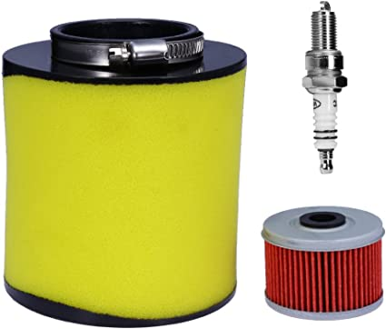 Air Filter Oil Filter w// Spark Plug Kit For Rancher 350 Foreman 400 450 FourTrax