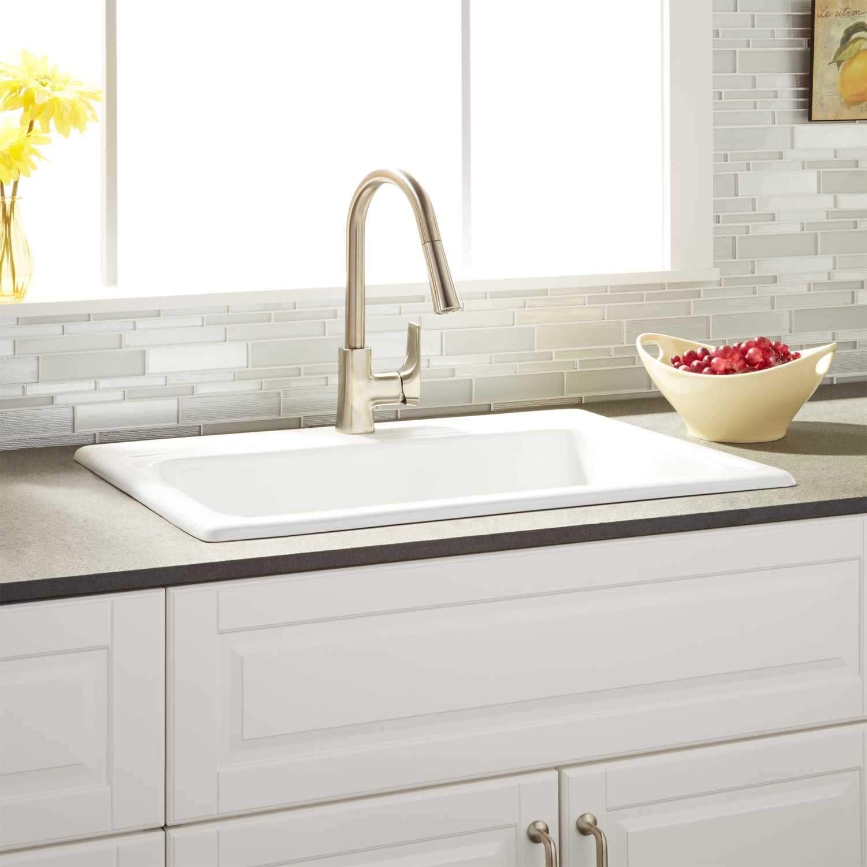 single basin cast iron kitchen sink