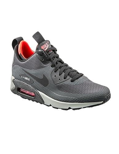 best service 4d746 28451 Amazon.com | Nike Air Max 90 Mid Winter Print Black/Grey/Red ...