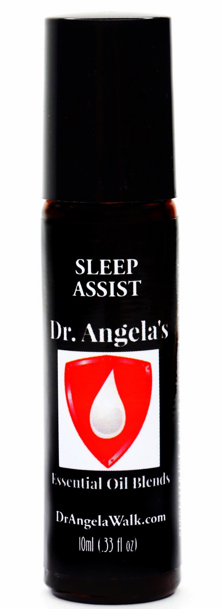 Dr. Angela's Sleep Assist Essential Oil Blend with Hemp Oil | Therapeutic Grade Insomnia Support Roll-On Bottle | Natural Sleep Aid 10 ml (.33 fl oz)