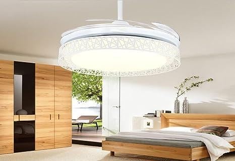 Ventilador de techo invisible, moderno salón simple lámpara del ...