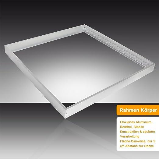 5x LED Panel Rahmen 60x60 cm Aufputz für Decke Gehäuse Aluminium Aufbaurahmen