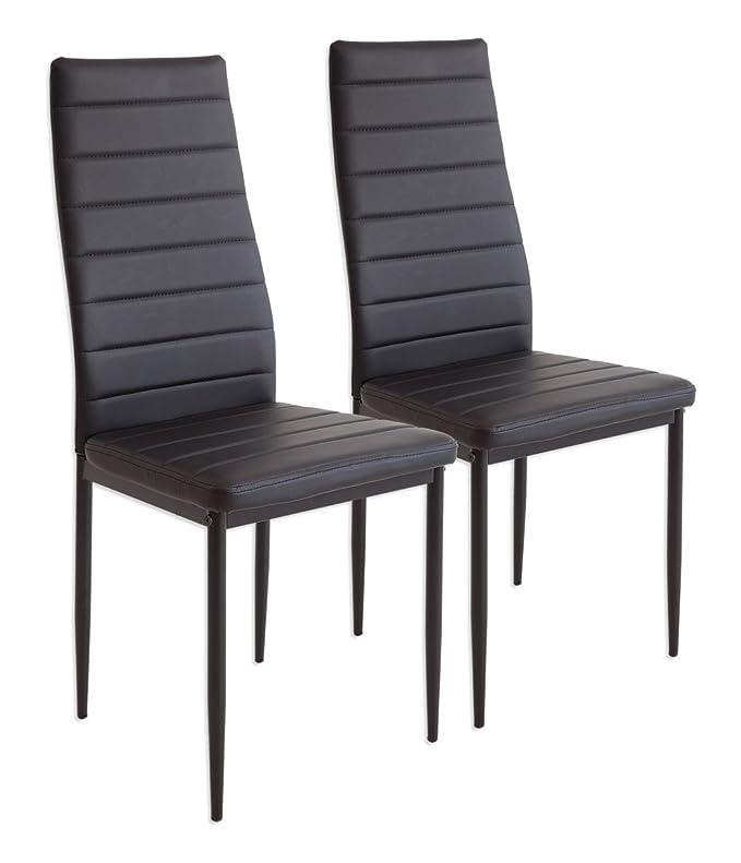 150 opinioni per Albatros 2862 MILANO- Set di 2 sedie da pranzo, nero