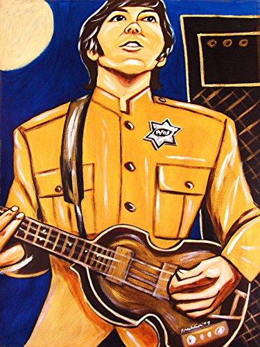Violin Bass Mccartney Paul (PAUL McCARTNEY PRINT POSTER guitar cd lp record album vinyl Beatles hofner violin bass shea stadium concert)