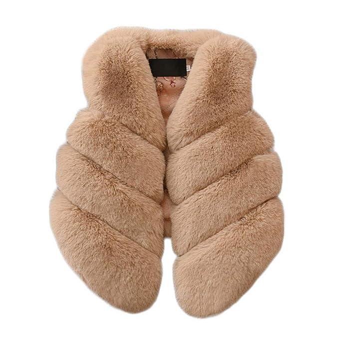Baby Kids Girl Faux Fur Vest Waistcoat Winter Warm Jacket Coat Outwear Clothes U