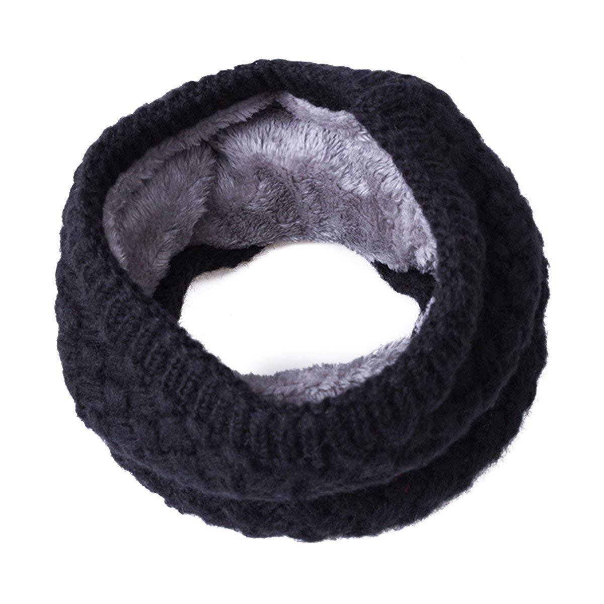 500c94225be1 TickTocking Unisexe hiver chaud bague écharpes épaisse polaire à  l intérieur de tricot élastique CN